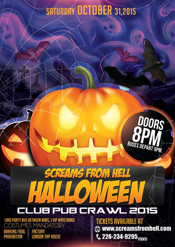 sat oct 31 halloween clubpub crawl 2015 london ontario toronto halloween 2018 events partiesnew years eve 2018 events parties tickets guide