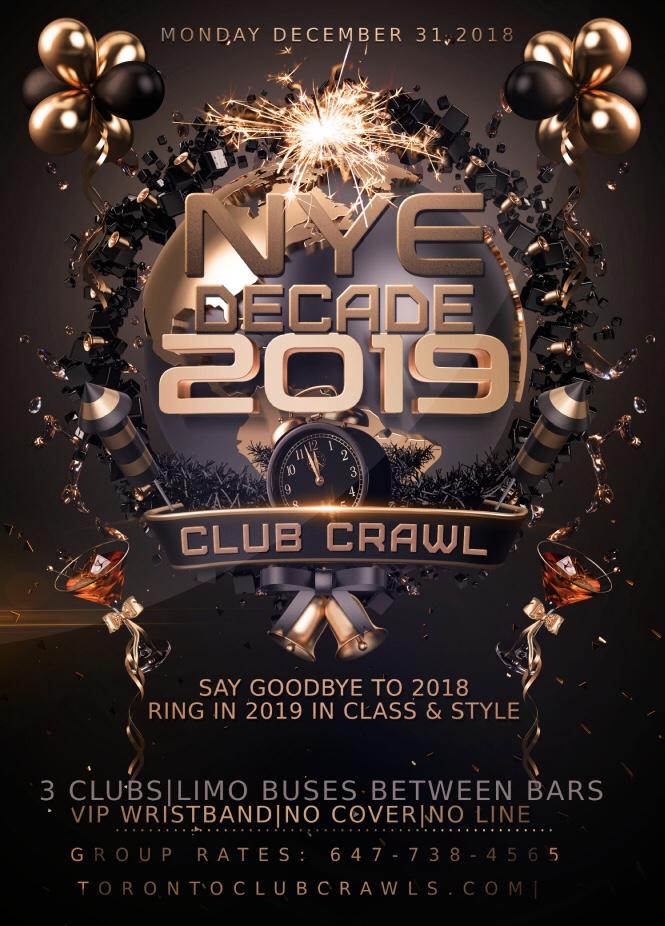 2019 New Years Eve Parties in Toronto! NYE TORONTO HALLOWEEN